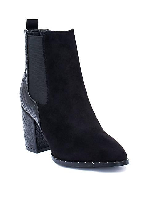 G.C. Shoes Paris Snake Detail Chelsea Boot