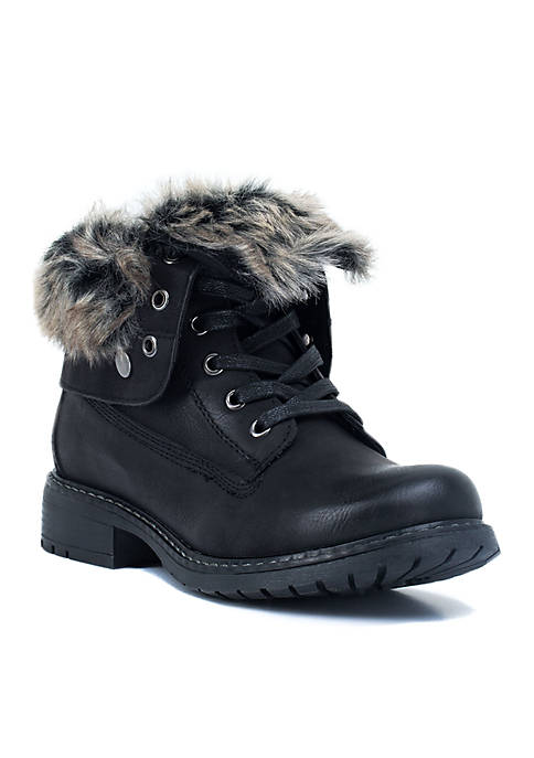 G.C. Shoes Trudie Fur Detail Combat Boot