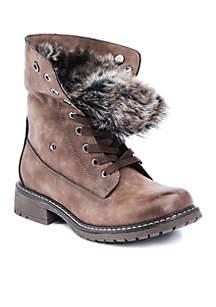 Trudie Fur Detail Combat Boot