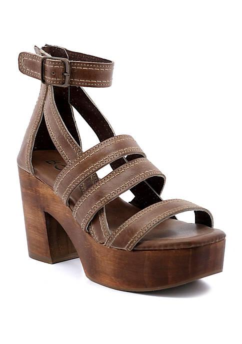 Corey Wood Platform Sandals