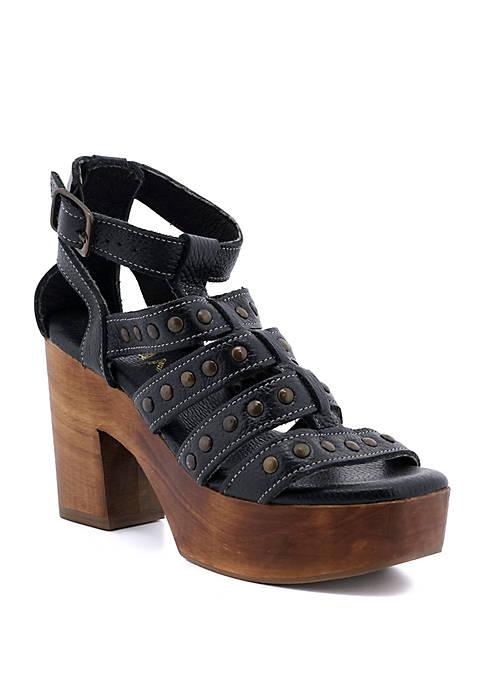 ROAN® Curry Wood Platform Sandals