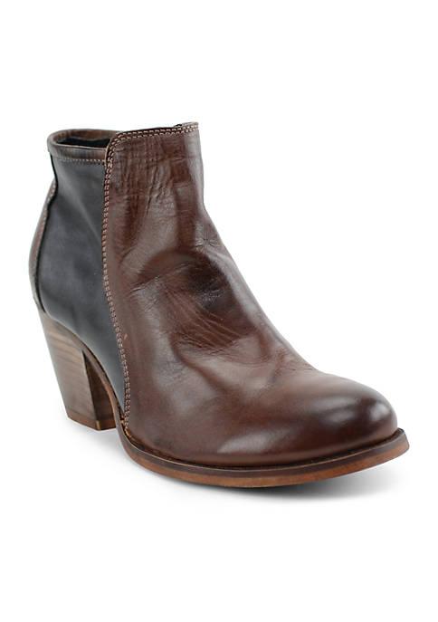 Carola Stacked Heel Booties