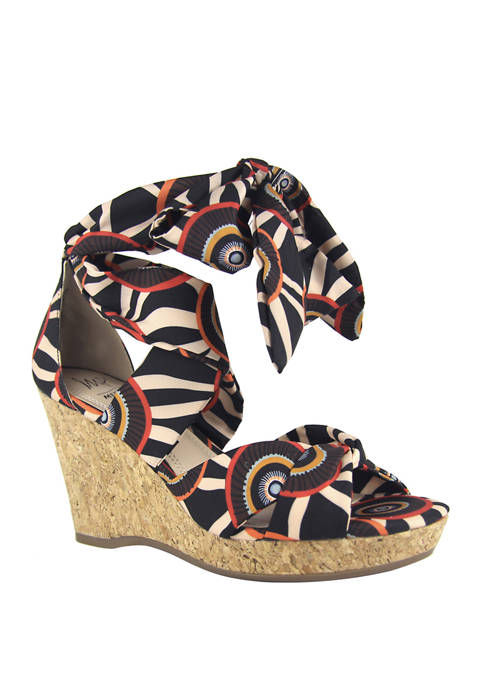 Impo Ozara Tie Wedge Sandals
