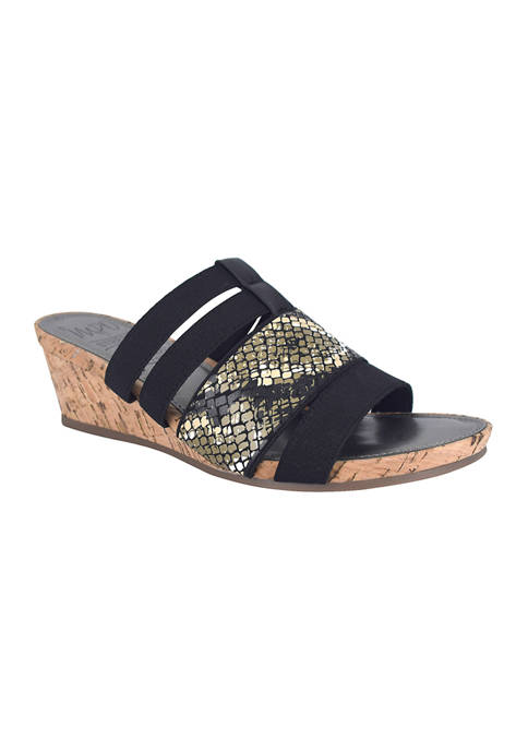 Impo Emberly Stretch Wedge Sandals with Memory Foam