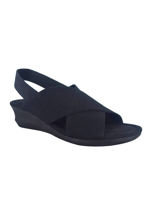 Impo Geena Stretch Sandals with Memory Foam