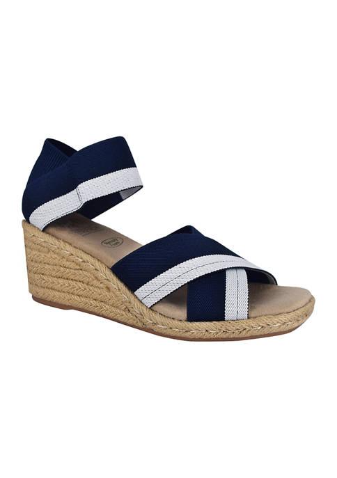 Impo Nayeli Stretch Elastic Espadrille Wedge Sandals