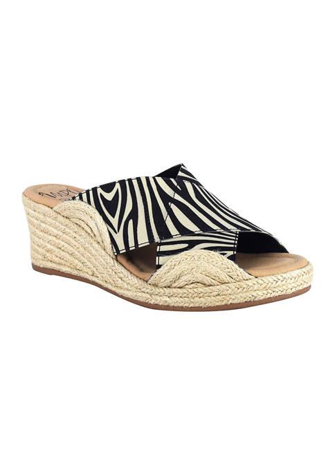 Impo Normi Stretch Elastic Espadrille Wedge Sandals