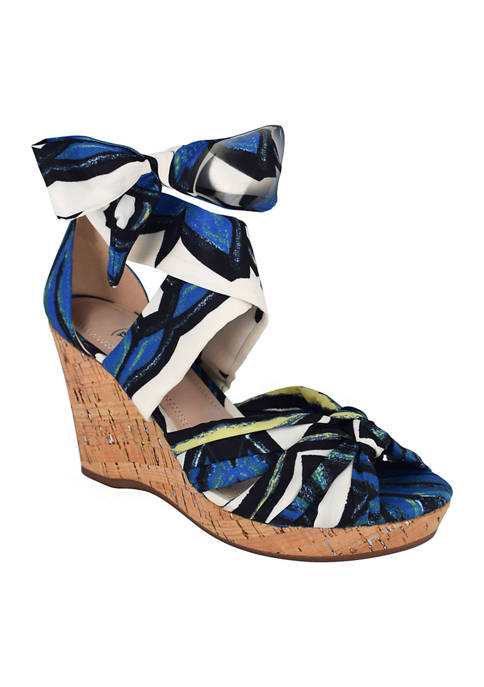 Impo Ohanna Ankle Wrap Wedge Sandals with Memory