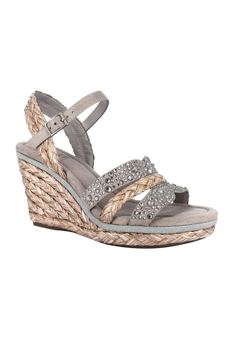 Impo Ossie Platform Wedge Sandals with Memory Foam