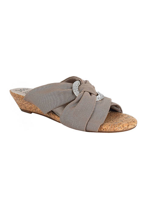 Impo Rexine Slide Sandals with Memory Foam