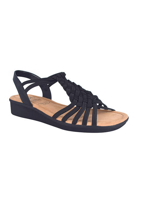 Impo Rosette Stretch Sandals with Memory Foam