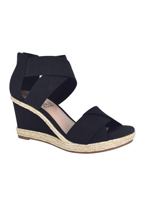 Impo Trissa Stretch Platform Wedges with Memory Foam