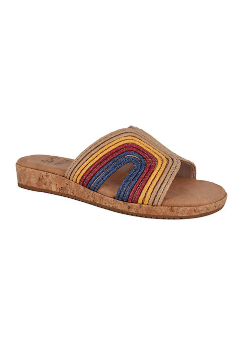Impo Blaze Raffia Sandals with Memory Foam