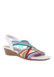 Ramsey Stretch Wedge Sandal