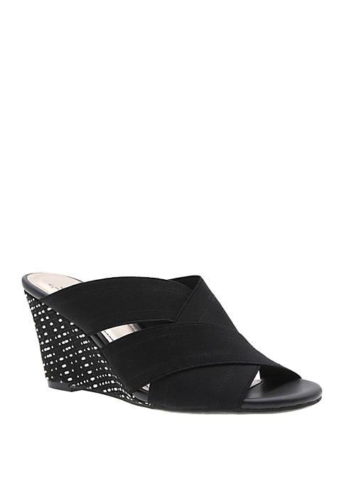 Volney Stretch Wedge Sandals