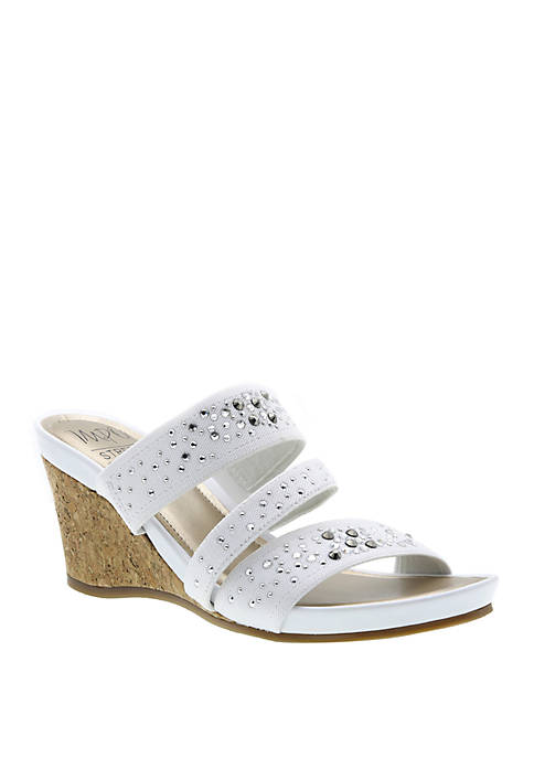 Impo Vonita Stretch Sparkle Wedge Sandal