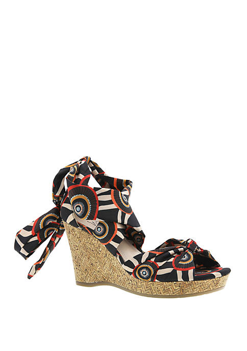 Impo Ovalia Cork Wedge Sandals