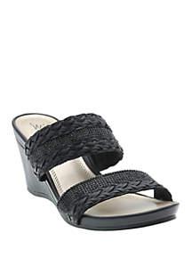 Impo Vesa Sparkle Wedge Sandals