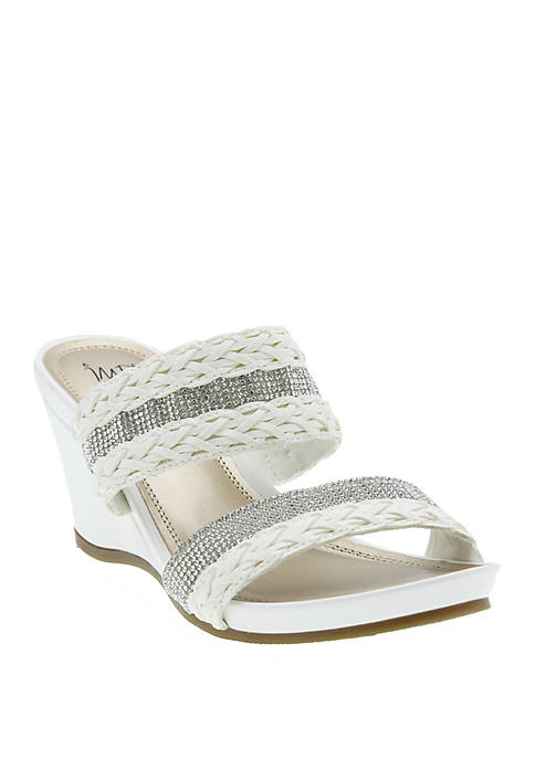 Impo Vesa Sparkle Wedge Sandals