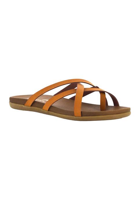 Melbourne Multi Strap Comfort Slide Sandals