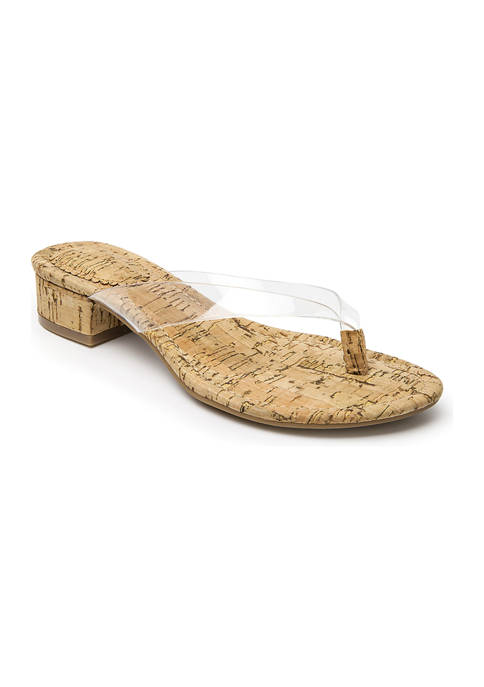 Crown & Ivy™ Manday Thong Block Sandals