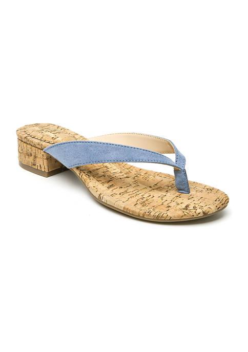 Manday Thong Block Sandals