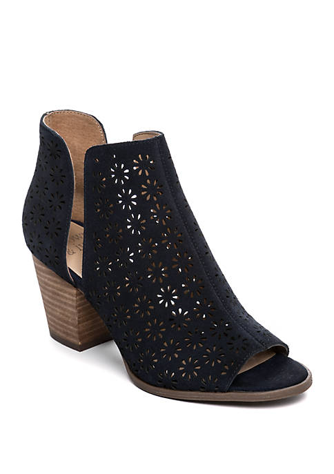 Crown & Ivy™ Sabrina Open Toe Perforated Bootie