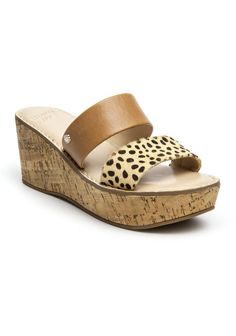 Crown & Ivy™ Caroline Double Band Sandals