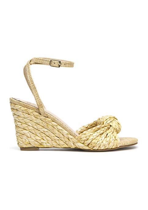 Marea Knot Wedge  Sandals