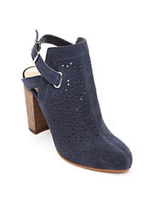 Hadlee Perforated Slingback Ankle Boot