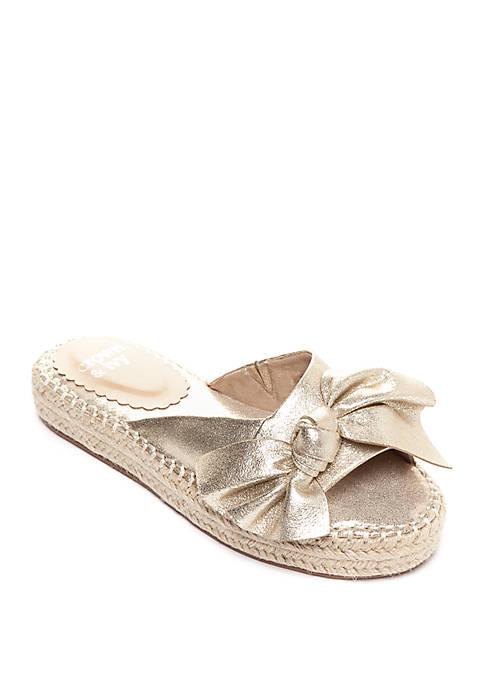 Crown & Ivy™ Keisha Flatform Bow Slide Sandals