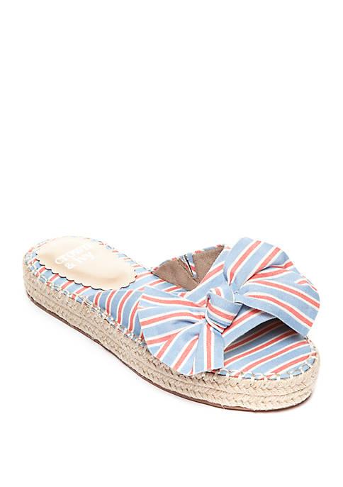 Keisha Flatform Bow Slide Sandals