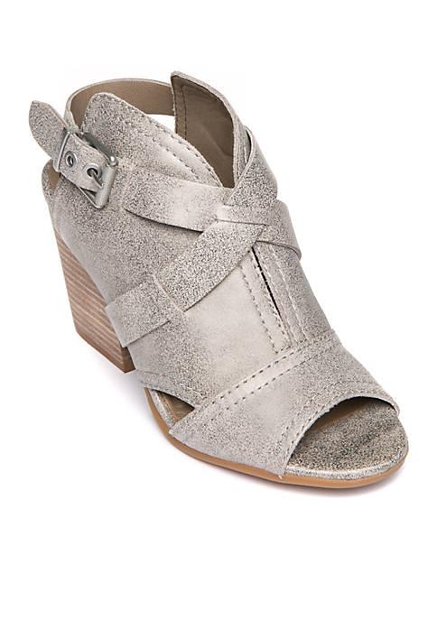 LUCCA LANE Analise Stacked Heel Sandal