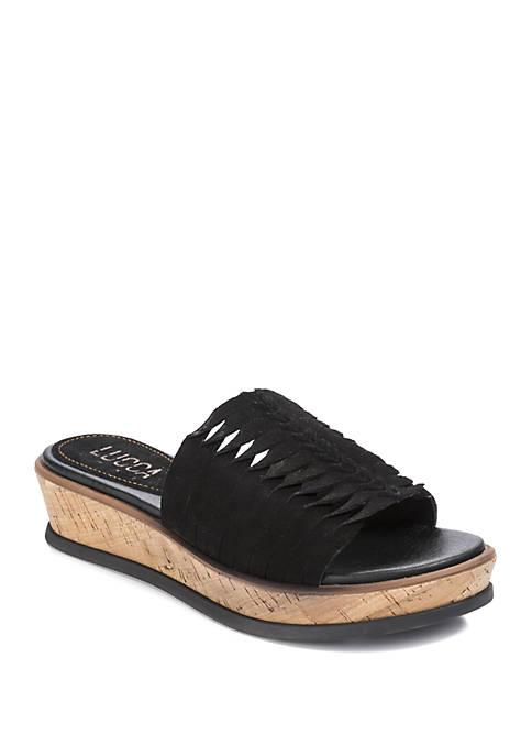 LUCCA LANE Kalista Slide Platform Sandals