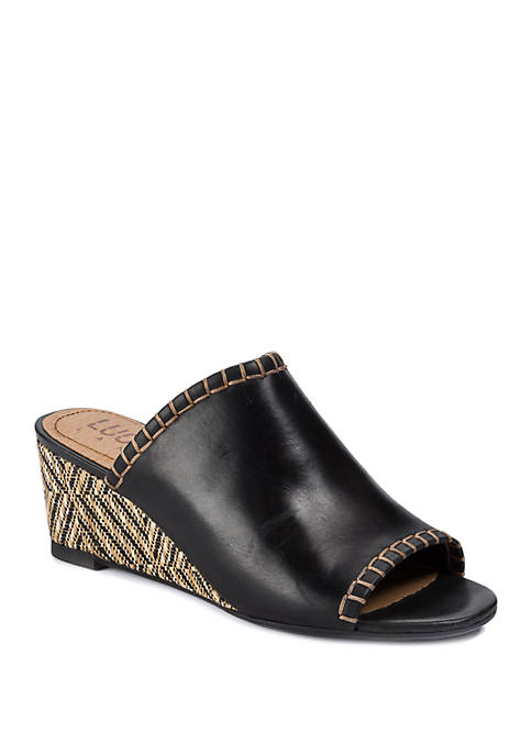 Enola Woven Wedge Sandals
