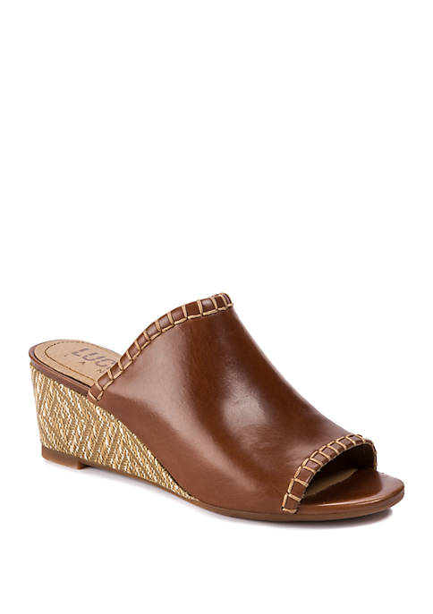 LUCCA LANE Enola Woven Wedge Sandals