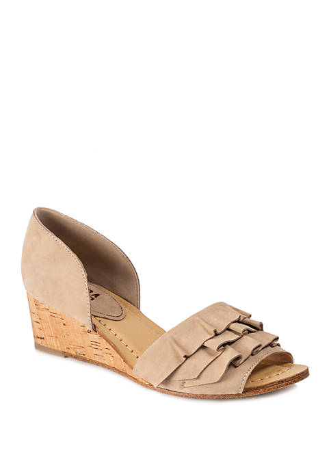 Saddie Wedge Sandals
