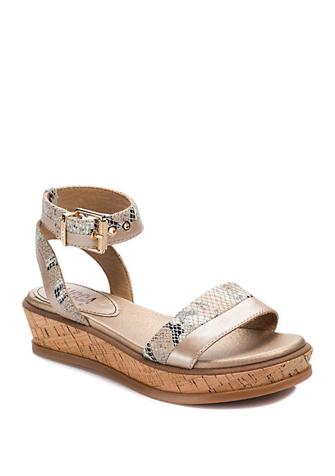 LUCCA LANE Karel Cork Platform Sandals