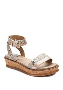 LUCCA LANE Karel Cork Platform Sandals