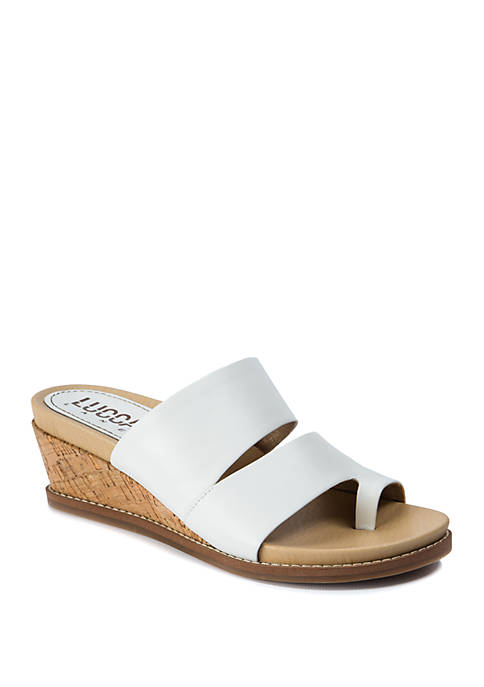 LUCCA LANE Whitley Wedge Sandals