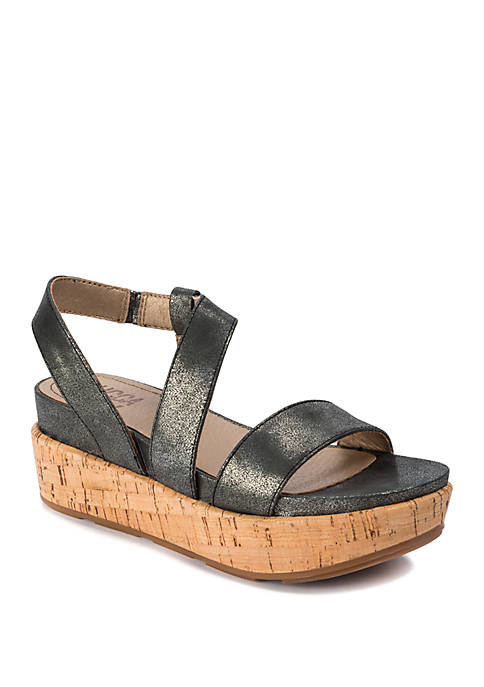 LUCCA LANE Olympia Cork Platform Sandals