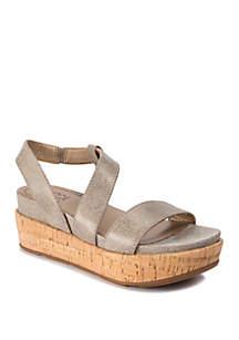 LUCCA LANE Olympia Cork Platform Sandals