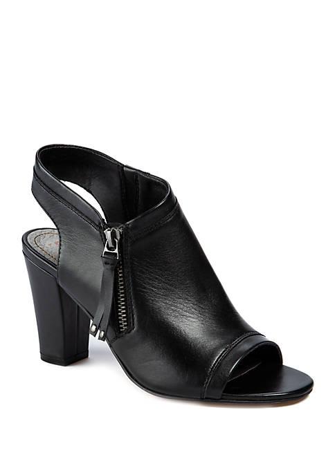 LUCCA LANE Viola Open Toe Stack Heel Sandals
