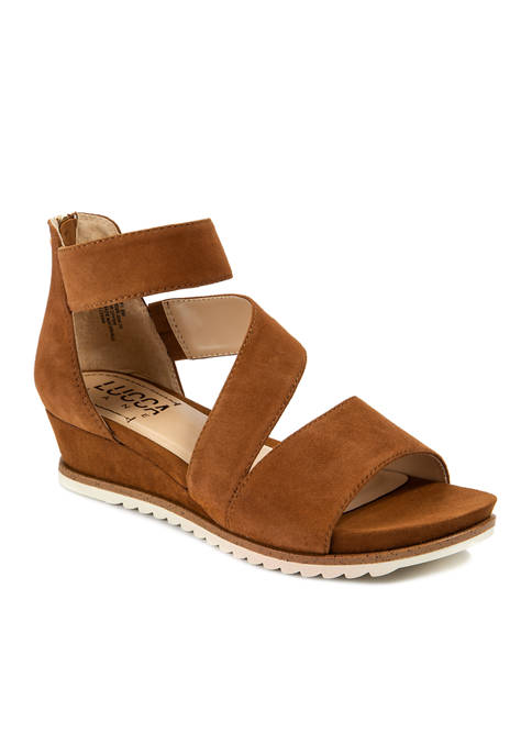 LUCCA LANE Fifi Asymetircal Low Wedge Sandals