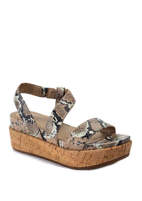LUCCA LANE Olympia Platform Sandals