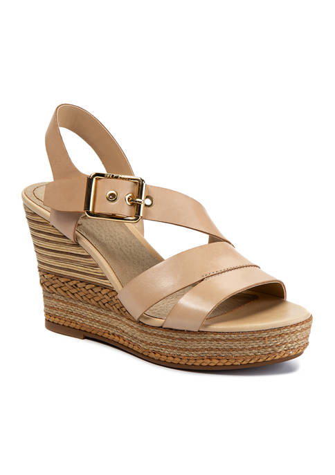 LUCCA LANE Erin Asymetrical Wedge Sandals