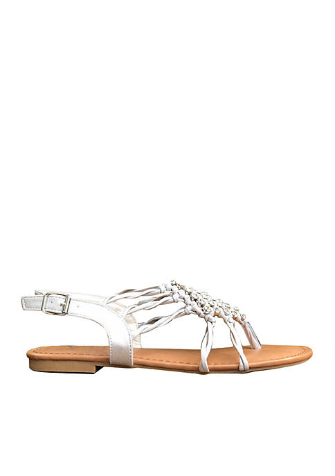 Very G Isabella Webbed Jewel Sandal
