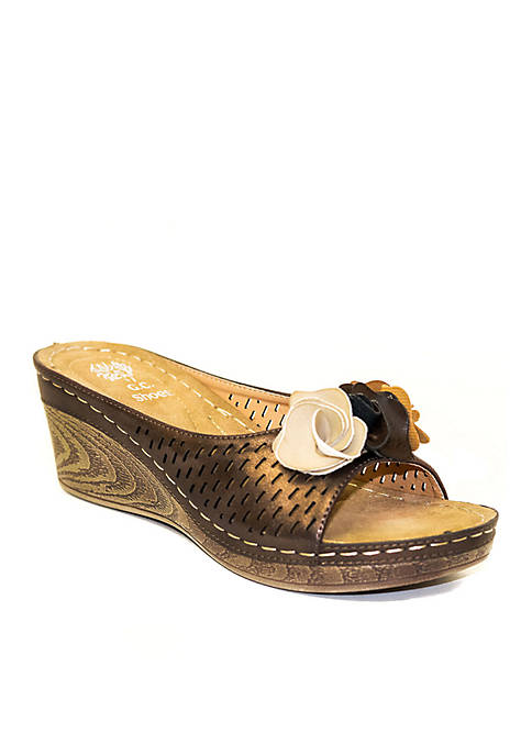 Good Choice Juliet Laser Cut Rosette Wedge Slide