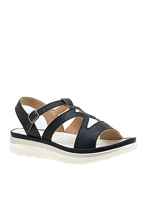Karly Cut Detailing Cushioned Sandals
