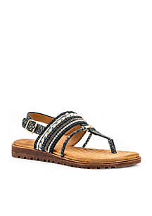 Letty Beaded Thong Cushioned Sandal